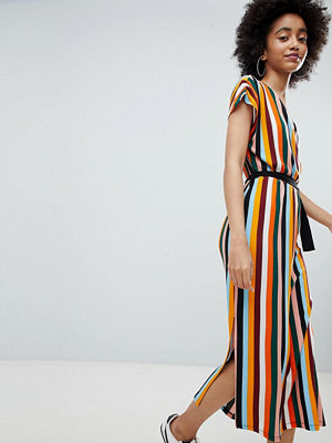 Bershka stripe midi dress