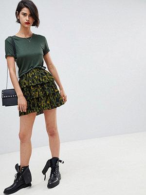 Vero Moda animal print skirt - Dark olive