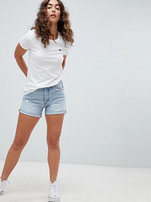 Levi's 501 Longer line shorts med revor i lightwash North beach blues