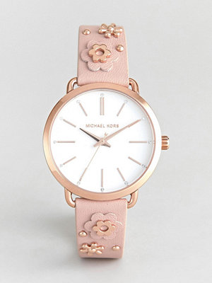 Michael Kors MK2738 Portia Flora Embellished Leather Watch