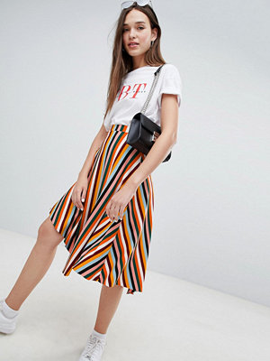 Bershka striped asymmetric skirt