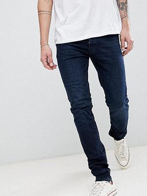 Jeans - Burton Menswear TALL Skinny Fit Jeans In Dark Blue Wash - Blue