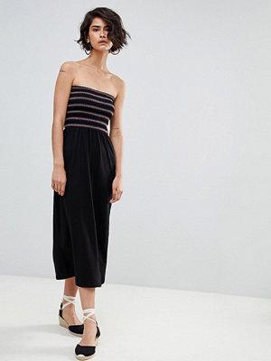 Warehouse Shirred Bandeau Midaxi Dress
