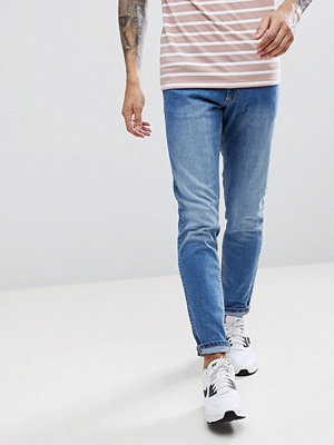 Jeans - LDN DNM Mid Blue Skinny Jeans