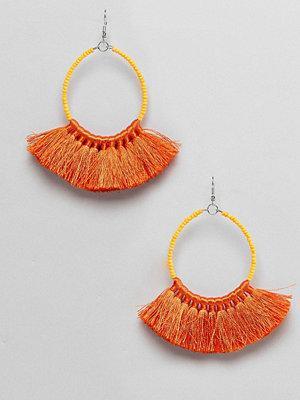 ASOS örhängen DESIGN Beaded Fan Tassel Earrings