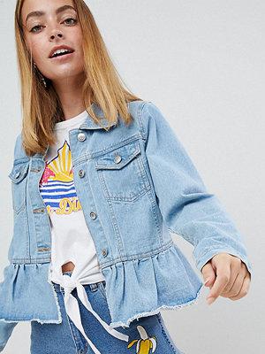 Jeansjackor - Brave Soul Petite Kennedy Denim Jacket with Frill Hem