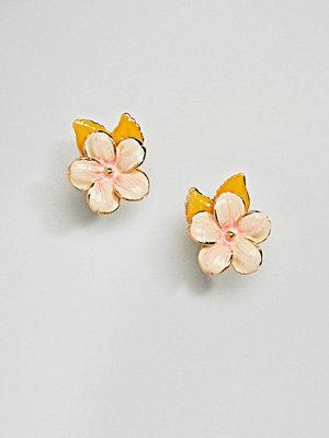 Bill Skinner örhängen Enamel Cherry Blossom Stud Earrings