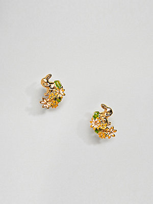 Bill Skinner örhängen Gold Plated Rabbit & Hare Stud Earrings