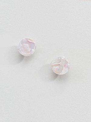 ASOS örhängen DESIGN Resin Disc Double Bubble Earrings