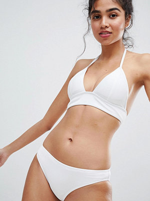 New Look Rib Longline Bikini Top