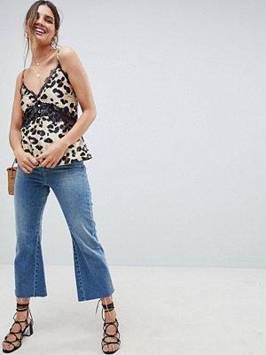 ASOS DESIGN Leopardmönstrat linne med spetsdetalj