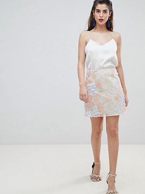 River Island Floral Lace A-Line Mini Skirt - Multi