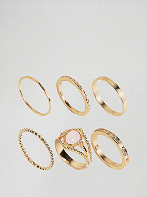 ASOS Curve ASOS DESIGN Curve exclusive pack of 6 vintage style rings