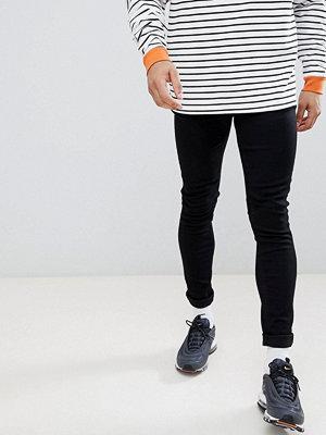 LDN DNM Super Skinny Spray On Jeans in Black - Jet black