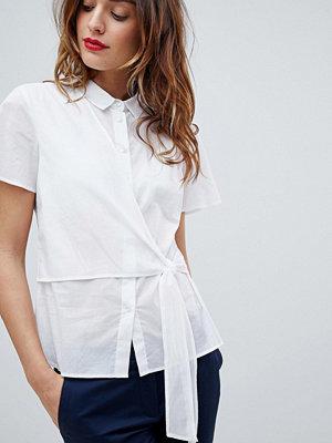 Sisley Kortärmad skjorta med knytning i sidan