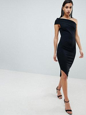 City Goddess One Shoulder Dress With Asymetric Hem