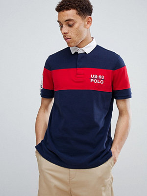 Polo Ralph Lauren CP-93 Capsule Back Applique Chest Stripe Rugby Polo in Navy - Cruise navy