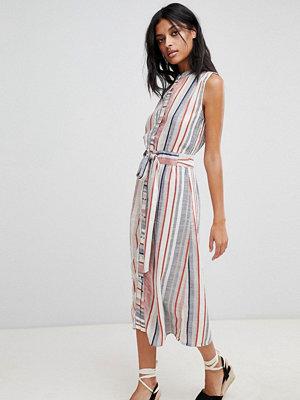 Warehouse Stripe Linen Shirt Dress