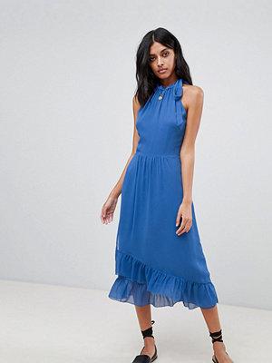 Warehouse Frill Detail Halter Maxi Dress
