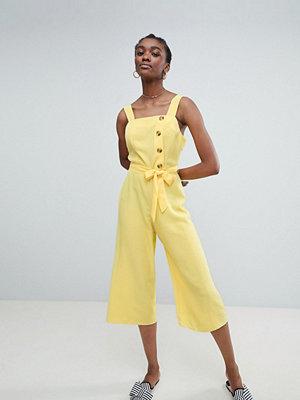 New Look Jumpsuit med knäppning Citrongul