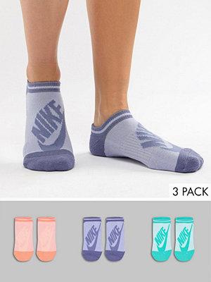 Strumpor - Nike 3-pack flerfärgade osynliga strumpor