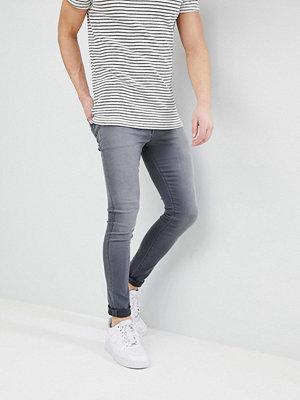 ASOS DESIGN Super Spray On Jeans In Washed Grey - Light grey