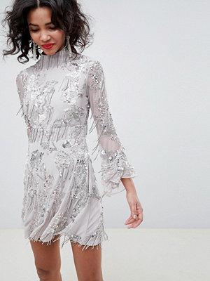 ASOS Edition sequin fringe skater mini dress
