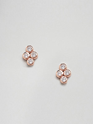 SHASHI örhängen Sterling Silver 18K Rose Gold Plated Noa Stud Earrings