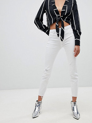 New Look Skinny jeans med fransfåll