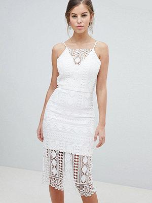 Chi Chi London Lace Midi Dress With V Back