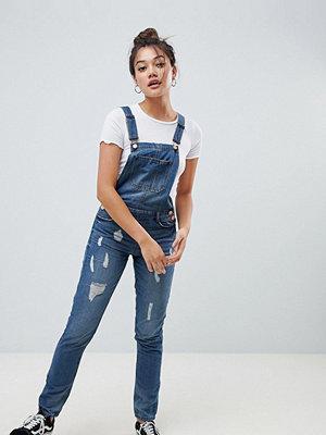 Jdy Mace slitna jeans Dungaree's Denim
