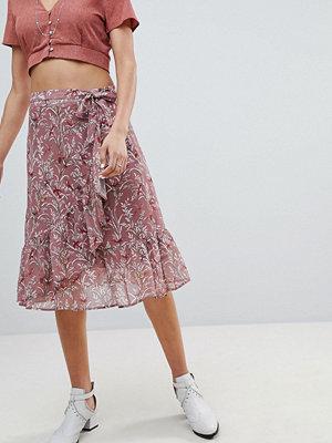 Sofie Schnoor bird print wrap skirt - Ash rose