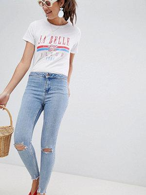 New Look Super skinny jeans med hög midja Mörkblå