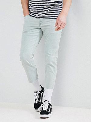 ASOS DESIGN Slim Jeans In Bleached Down Wash - Bleach blue