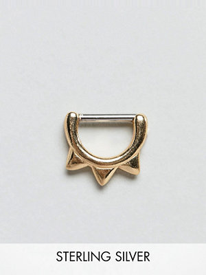ASOS örhängen DESIGN hoop ear piercing with spike detail