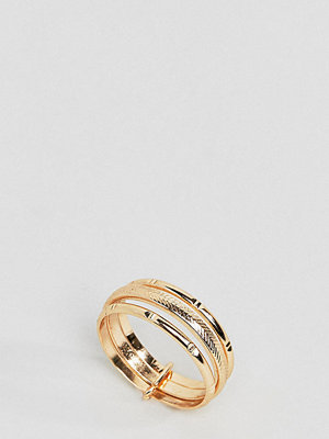 ASOS Curve ASOS DESIGN Curve ring with vintage style triple band