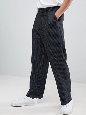 ASOS DESIGN Wide Leg Smart Trouser With Ditsy Pattern