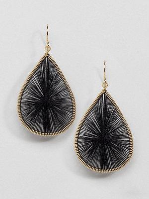 Whistles örhängen Stitched Teardrop Earrings - Black gold