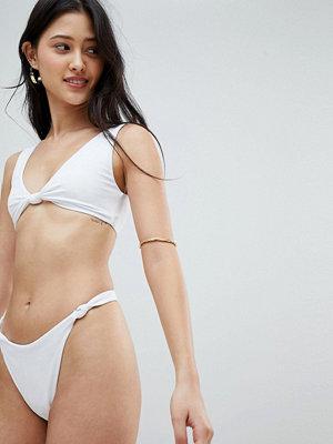 ASOS DESIGN knot minimal high leg thong bikini bottom