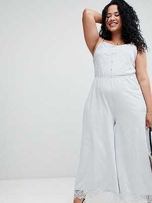 ASOS Curve Jumpsuit i jersey med smala axelband