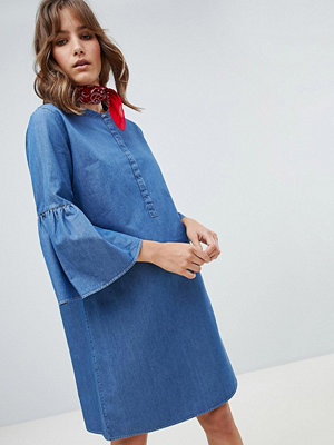 MiH Jeans M.i.h Jeans Beck fluted sleeve denim dress - Denim blue