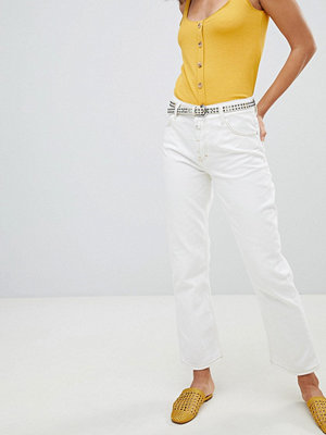 Mango Vita kick flare-jeans med kontrasterande sömmar