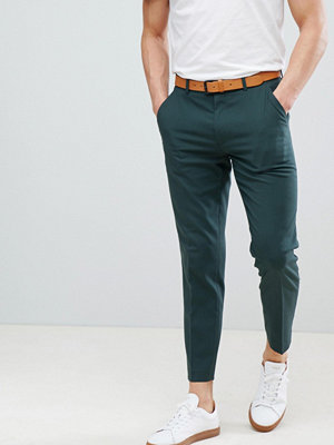 ASOS DESIGN Skinny Smart Trousers In Forest Green