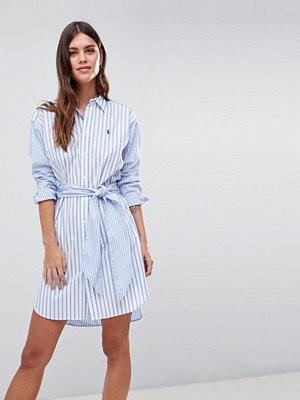 Polo Ralph Lauren Stripe Shirt Dress With Tie Waist - Blue/white stripe