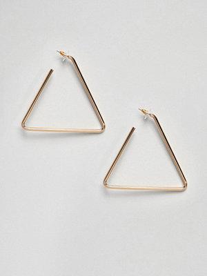 Aldo örhängen Gold Triangle Hoop Earrings - Bright gold