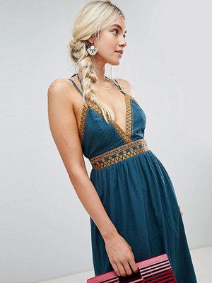 Lunik Grecian Maxi Dress - Teal