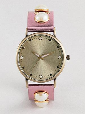 Klockor - ASOS DESIGN Metallic Pearl Embellished Watch