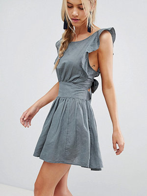 Free People New Erwin Frill Shoulder Dress
