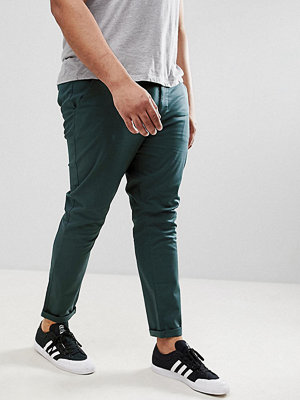 ASOS DESIGN Plus Skinny Chinos In Bottle Green - Bottle green