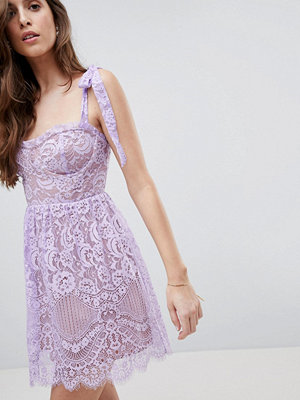 For Love & Lemons Valentina Mini Dress - Lavender